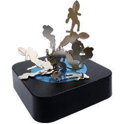 Magnetic Football Sculpture