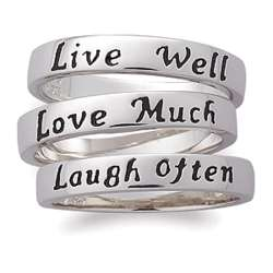 Stackable Live Love Laugh Ring Set