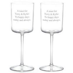 Engraved Parfait Wine Glasses