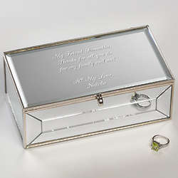 Personalized Engraved Mirrored Jewelry Box