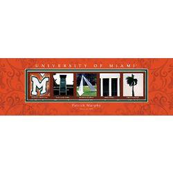 University of Miami Architecture Personalized Art Print