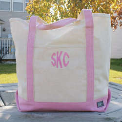 Personalized Canvas Tote Bag with Initials