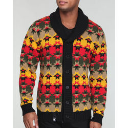 Men's Multi-Colored Cliff Cotton Cardigan