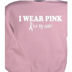 I Wear Pink Breast Cancer Awareness Personalized Sweatshirt