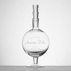 Amaretto Dolce Etched Glass Decanter