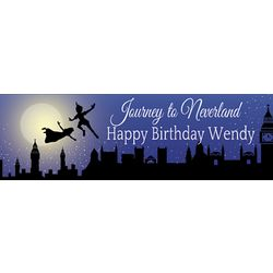 A Night in Neverland 24x72 Personalized Vinyl Banner