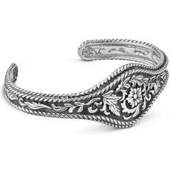 American West Cowgirl Sterling Silver Cuff Bracelet