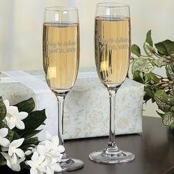 Personalized Graceful Wedding Flutes
