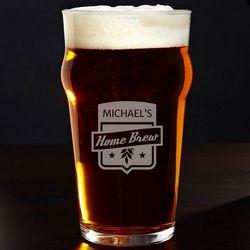 Home Brew English Pub Glass