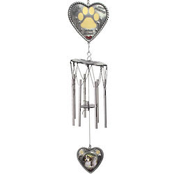 Pet Memorial Framed Heart Wind Chime