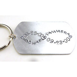 Our Love Is Infinite Personalized Dog Tag Keychain