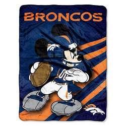 Denver Broncos Disney Micro Raschel Throw Blanket