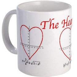 Heart Curves Ceramic Mug