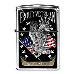 Proud Veteran Personalized Zippo Lighter