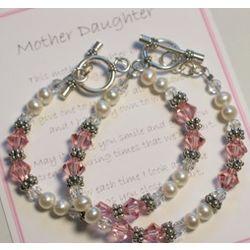 A Mother Daughter Bond Bracelet Set