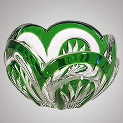 Cased Bohemain Crystal Bowl