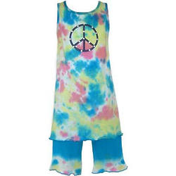 Peace Sign Tie Dye Tank Dress
