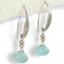 Hammered Sterling Silver Oceania Earrings
