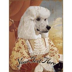 Personalized Vintage Poodle Wooden Plaque