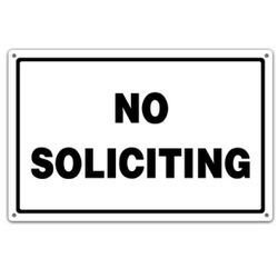 Metal No Soliciting Utility Sign