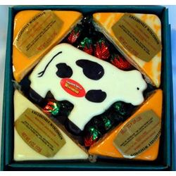 Wisconsin Cheese Cow Gift Box