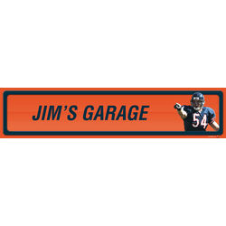 Brian Urlacher Personalized Aluminum Player Room Sign