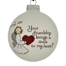 Personalized Friendship Heart Ornament