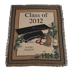 Personalized Class of 2012 Graduation Throw