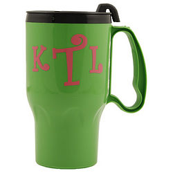 Personalized Green Travel Mug