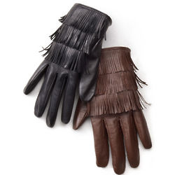 Fringed Leather Navajo Gloves