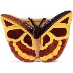 Butterfly Secret Wooden Puzzle Box