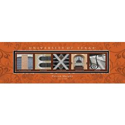 University of Texas Architecture Personalized Art Print
