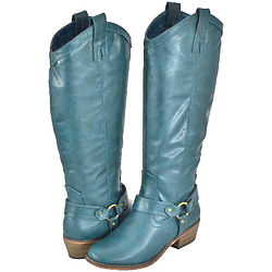Women's Emerald Green Women Riding Boots
