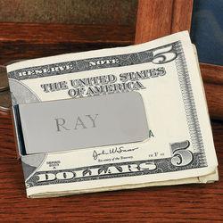 Personalized Silvertone Metal Money Clip