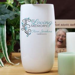 Personalized In Loving Memory Ceramic Flower Vase