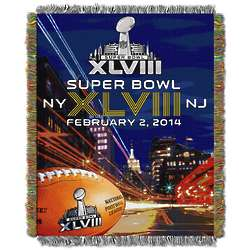 Super Bowl Downtown Tapestry Throw Blanket