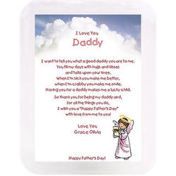 Daddy Angel Poetry Print