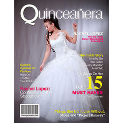 Personalized Magazine Cover for Quinceanera