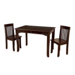 Avalon Table and 2 Chair Set in Espresso
