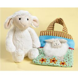 Sheep Plush Doll and Carryall Bag