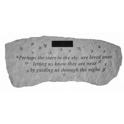 """Perhaps the Stars in the Sky"" Personalized Memorial Garden Bench"