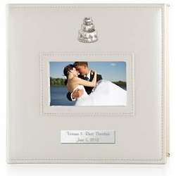 Personalized Wedding Album with Silver Wedding Cake