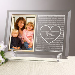 Personalized Always Loved Picture Frame for Mom