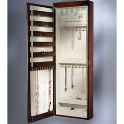 Wall Mounted Lighted Jewelry Armoire