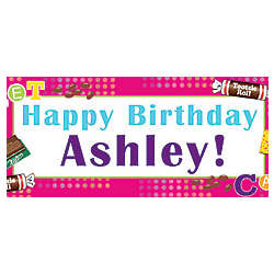 Personalized Small Tootsie Fun Banner