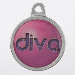Personalized Dome Diva Dog Tag