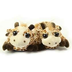 Giraffe Fuzzy Slippers