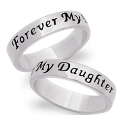Sterling Silver Daughter's Sentiment Ring