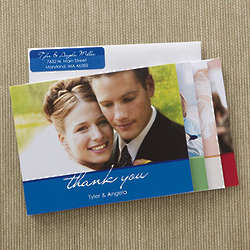 Wedding Thank You Photo Note Cards and Envelopes