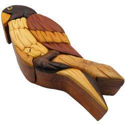 Parrot Secret Wooden Puzzle Box